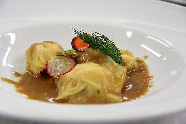 Ravioles-de-Langoustine-Crème-de-Crustacés